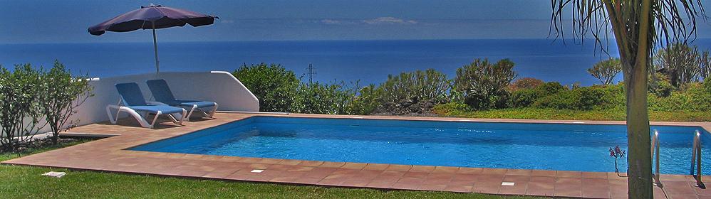 Casa Alba - Ferienhaus mit Pool und Meerblick in Todoque | La Palma Travel