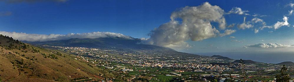 Ferienhäuser und  Fincas auf der Westseite La Palma: Aridanetal  - El Paso, Los Llanos, Tazacorte