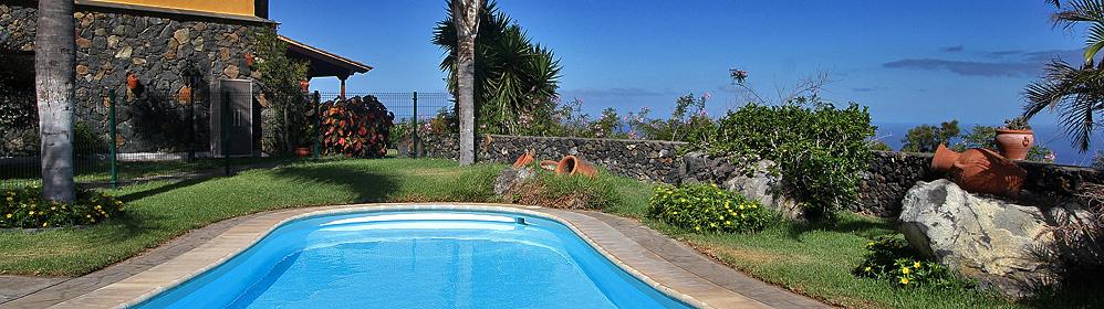 Finca El Moral - Apartment-Finca mit Pool, Internet in Todoque | La Palma Travel