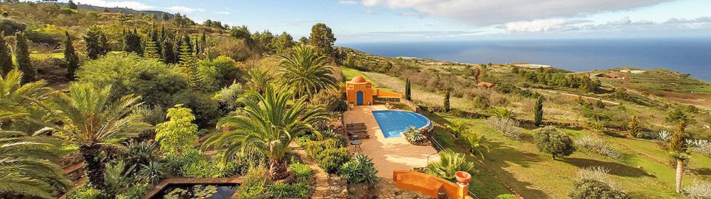 Villa Botanico - Ferienhaus mit Pool, Puntagorda | La Palma Travel