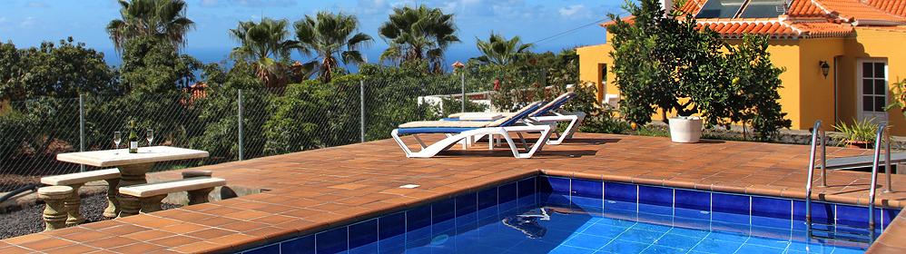 Casa Mar - Ferienhaus mit Pool und Internet in Tijarafe | La Palma Travel