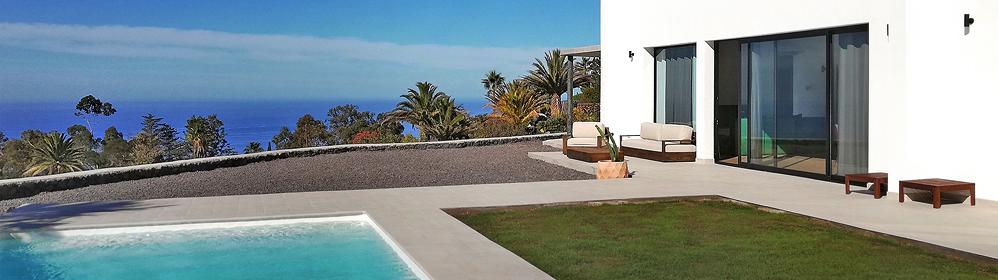 Punto Oceano - Moderne Urlaubsvilla mit Pool und Panoramablick in Tajuya | La Palma Travel