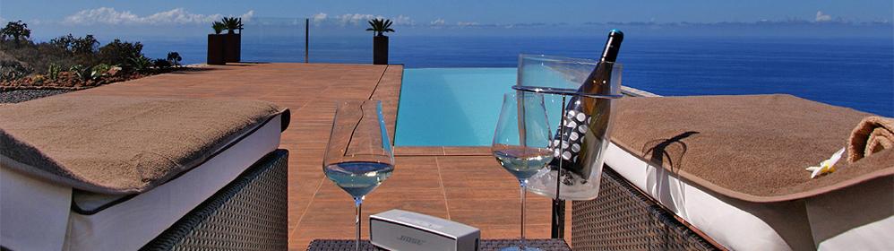 Villa Pura Vida - estilo arquitectónico destacable, piscina, vistas al mar | La Palma Travel