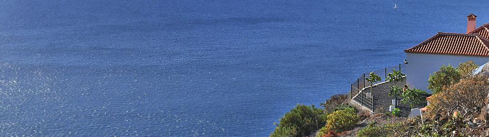 Casa El Hornito - Ferienhaus mit Pool, Meerblick und Internet in Tijarafe | La Palma Travel